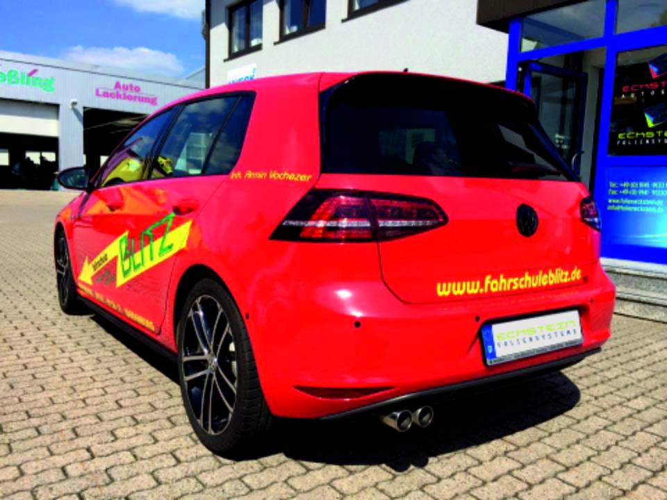 Folierung und Beschriftung für einen Golf GTI von Ecktstein Foliensysteme